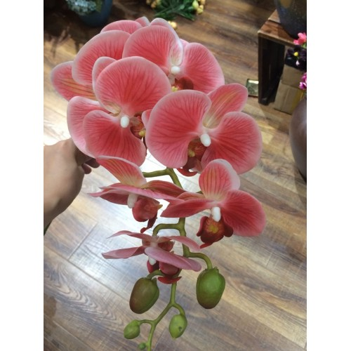 New arrival 3D 90cm artificial flower Phalaenopsis latex coating silk flower real touch orchid orchidee multicolor