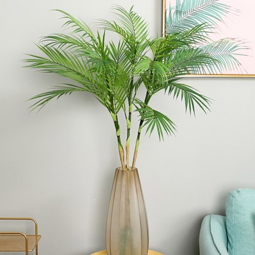 Palm Tree Artificial Leaves Branches Vivid Wild Faux Foliage Fake Plant for Home Wedding Living Room