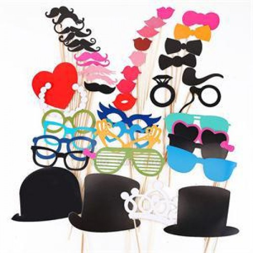 Photo Booth Props For Wedding Birthday Party Photo Booth Props Glasses Mustache