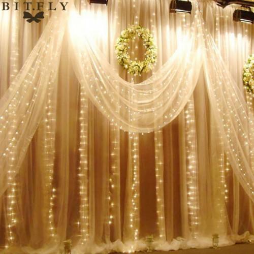 Waterproof LED Wedding Light icicle Christmas Light LED String Fairy Light Bulb