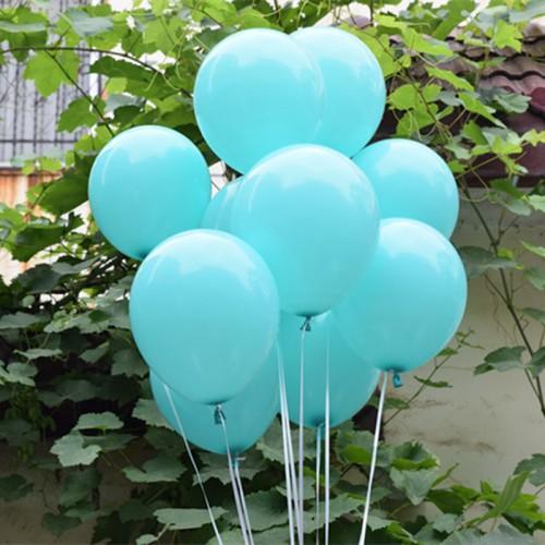 Wedding Decoration Balloons Tiffany Blue Latex 50 Pcs 12 inch Air Balls Happy Birthday Party Helium
