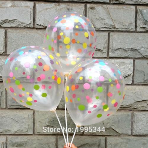 polka dots balloon Transparent balloon colorful dots printing birthday party