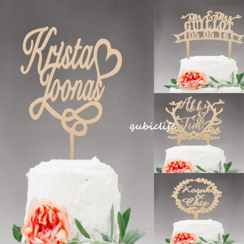wedding cake topper personalized Mr and Mrs cake topper Rustic Wooden cake topper Name Wedding Party