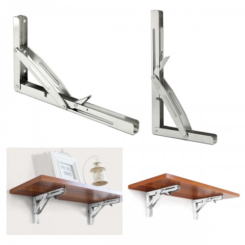 DIY 250kg Load 305 x 165mm 316 Stainless Steel Folding Shelf Benc Table Bracket Marine Grade