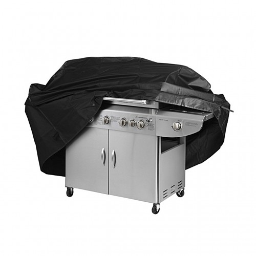 Black Waterproof BBQ Cover Outdoor Rain Barbecue Grill Protector For Gas Charcoal