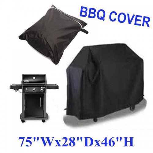 Black Waterproof BBQ Grill Barbeque Cover Outdoor Rain Grill Barbacoa For Gas Charcoal