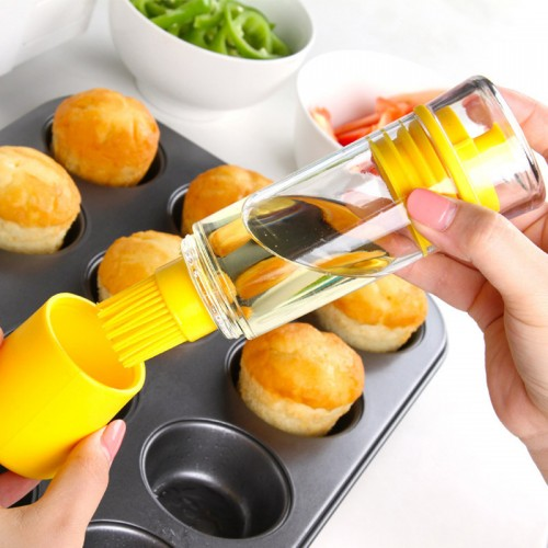 Good Quality Silicone Kitchen Tool Silicone Honey Oil Brush Bottle Cooking Baking Basting BBQ