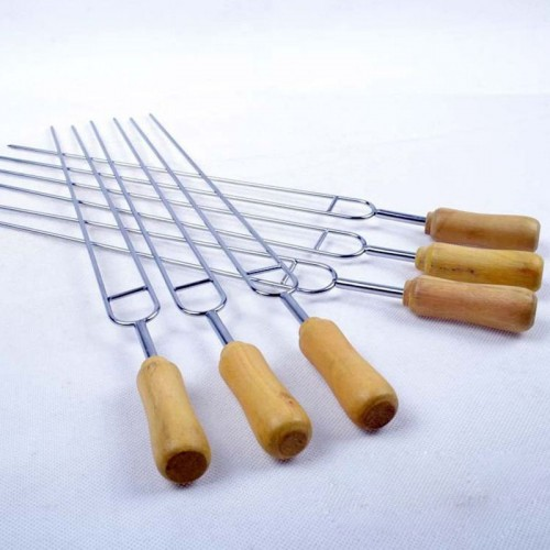 Shape BBQ Roast Separated Heat Stainless Steel Barbecue Needle Skewers