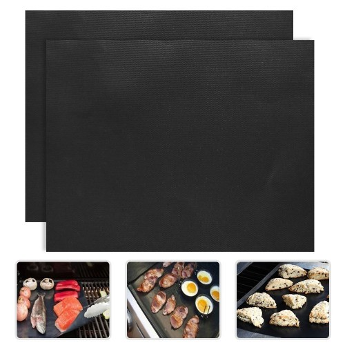 Thick ptfe Barbecue Grill Mat non stick Reusable BBQ Grill