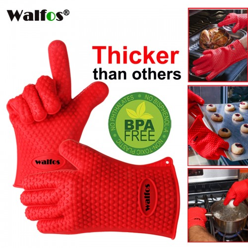 food grade Cooking Baking BBQ glove Heat Resistant Silicone Grill Glove