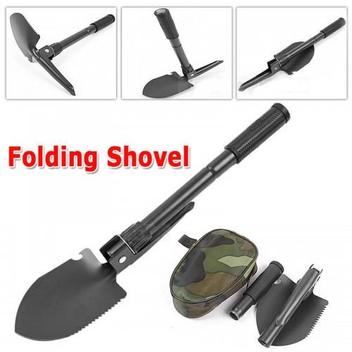 BRAND Military Portable Folding Shovel Survival Spade Trowel Dibble Garden Camping
