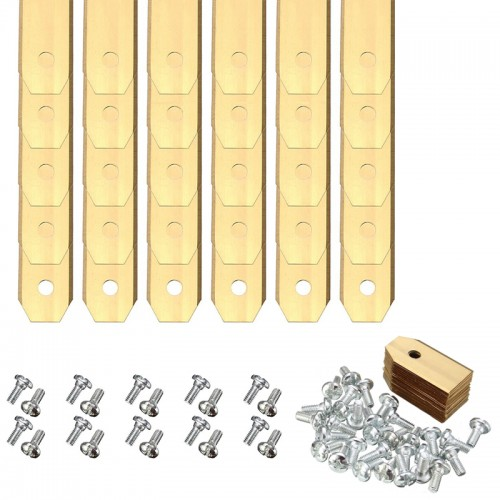 Gold Titanium Replacement Lawnmower Blades with Screws for Mower Accesories
