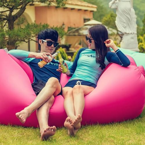 Beach Portable Outdoor Furniture Air Bed Inflatable Hammock Sleeping Bag Camping Air Sofa