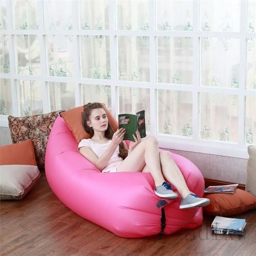 Beach Portable Outdoor Inflatable Bone Furniture Sofa Hammock Sleeping Camping Air