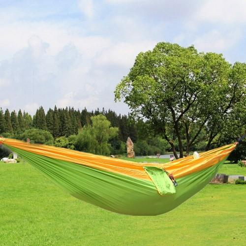 Colors High Strength Parachute Nylon Fabric Camping Single Parachute Hammock