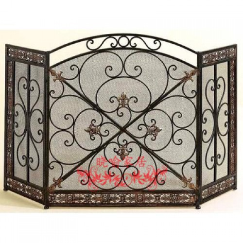 Do old high grade wrought iron floor mantel Wai flameproof enclosure fire screen