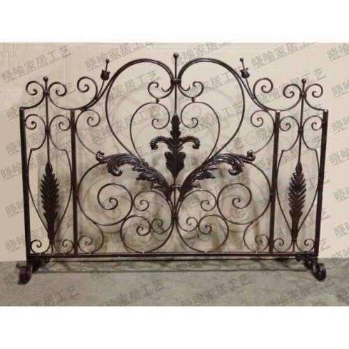 High grade wrought iron floor mantel Wai flameproof