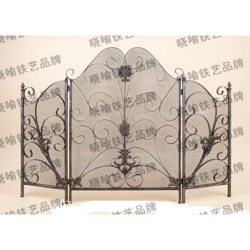 Wrought iron mantel Thirty percent screen guardrail