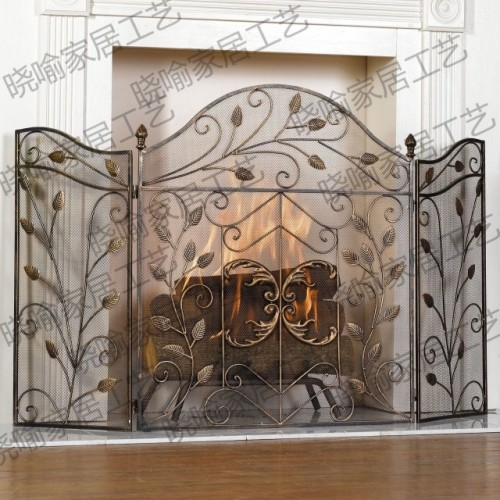 Wrought iron mantel Thirty percent screen guardrail fireplace