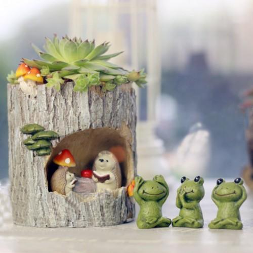 Cute Hedgehog Flower Succulent Pot Planter Bonsai Trough Box Plant Bed Decorations Creative