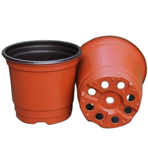 Double Color Plastic Garden Flower Pot Mini Flowerpot Home Garden Planter Pot Unbreakable Plastic
