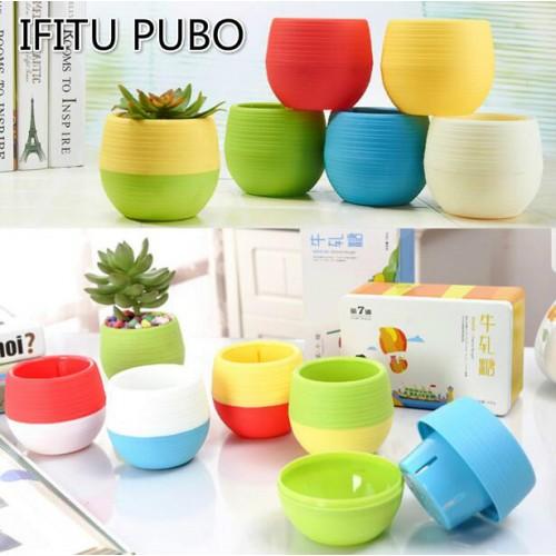 Flower Pots Mini Flowerpot Garden Unbreakable Plastic Nursery for Succulent