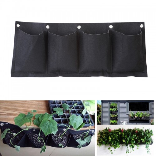 Outdoor Indoor Vertical Gardening Hanging Wall Pockets Planting Bags Seedling Wall Planter