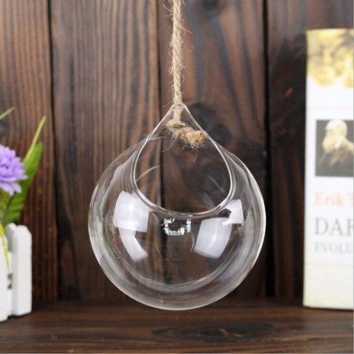 Pastoral Crystal Glass Hanging Hydroponic Flower Succulent Plant Terrarium Pot Micro Landscape Container Home Wedding