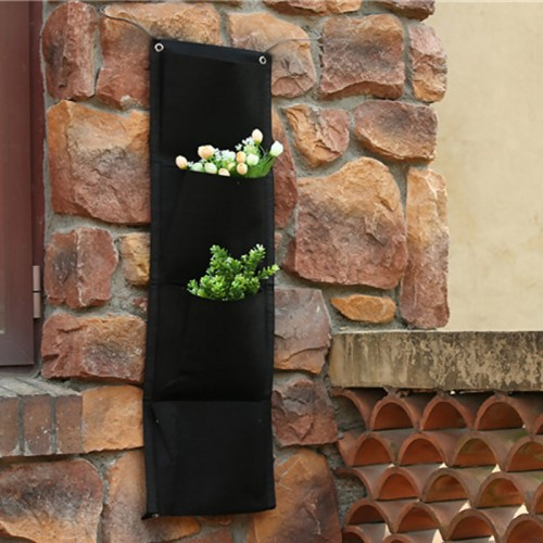 Pockets Vertical Bags Wall Planter Wall mounted Hanging Flower Planting