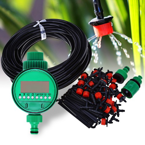 Micro Drip Irrigation System Plant Self Automatic Watering Timer Garden