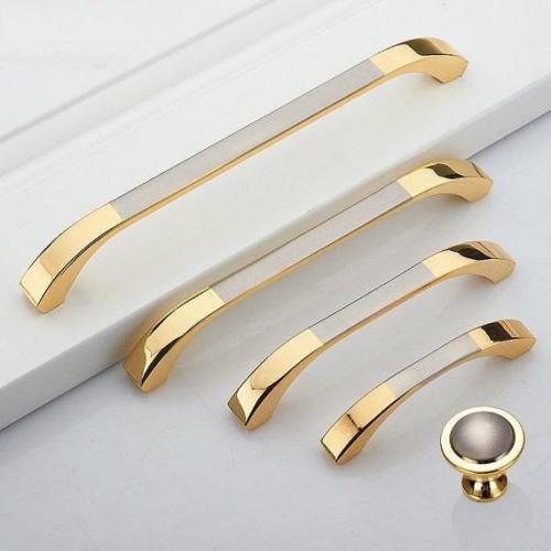 Dresser Drawer Pulls Handles Knobs Gold Silver Brushed Nickel