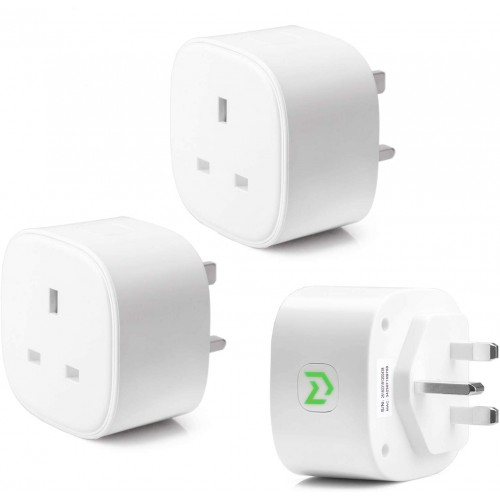 Pack Of 3 Smart WiFi Plug Energy Monitor IFTTT Supported App Remote Control Meross MSS210 UK Standard