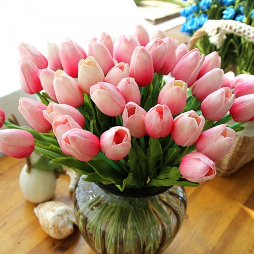 11pcs Tulip Artificial Flower PU Artificial Bouquet Real Touch Flowers for Home Wedding Decorative Flowers Wedding