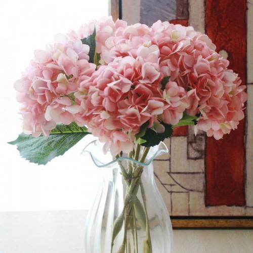 Fashion Artificial Hydrangea Flower Silk Cloth Plastic Wedding Supplies DIY Home Decoration For Birthday Party Festival