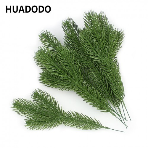 HUADODO 10pieces Artificial Pine Branches Fake Plants Artificial flowers Christmas Tree for Xmas Tree Ornaments Decorations