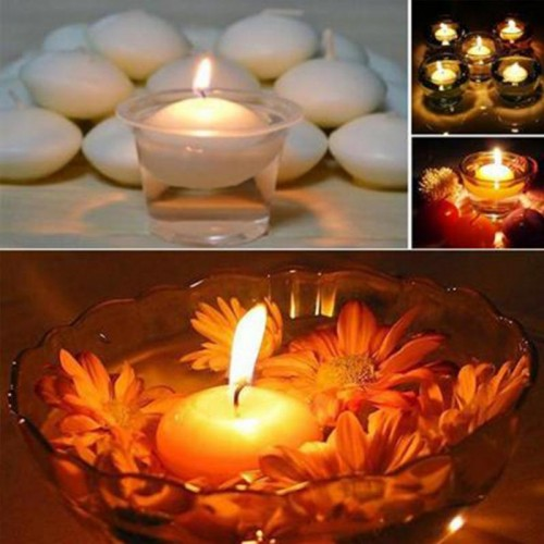 10PCS lot Romantic Round Water Floating Candle Disc Floater Candles Wedding Party Home Decor