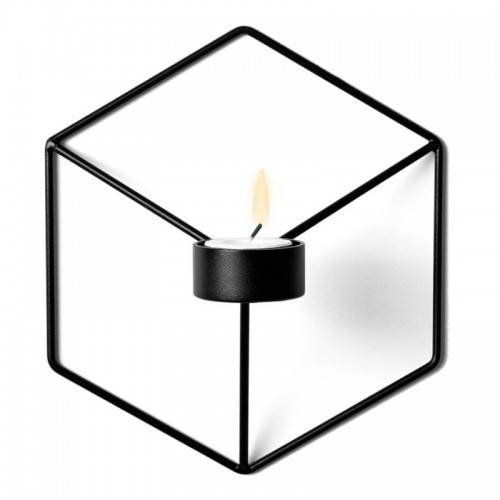 21cm Candle Holders Nordic Style 3D Geometric Candlestick Metal Wall Candle Holder Sconce Matching Small Tealight