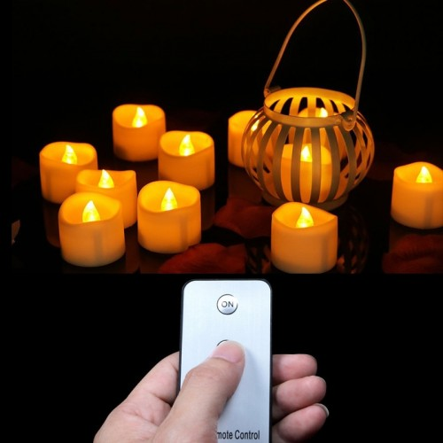 Pack of 6 Remote Led Tealights Candles Flameless Flicker Votive Candles Realistic Remote Control Outdoor Candle