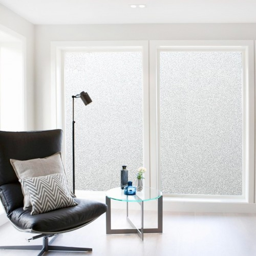 200CM 45 60 90 Frosted Window Film No Glue Self Adhesive Vinyl Static Cling Privacy Glass
