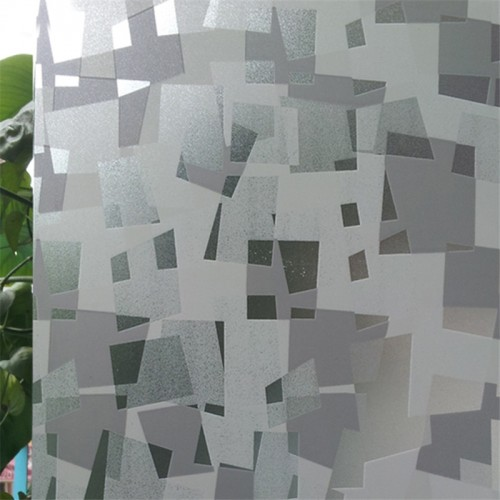 45 100 cm Small square pattern Opaque Frosted Window Films Vinyl Static Cling Self adhesive Privacy