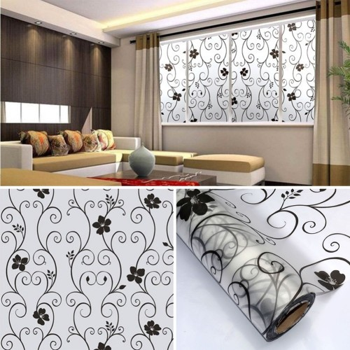45 100cm Frosted Opaque Glass Window Film Privacy Stickers decoration Home Decor Window Papers
