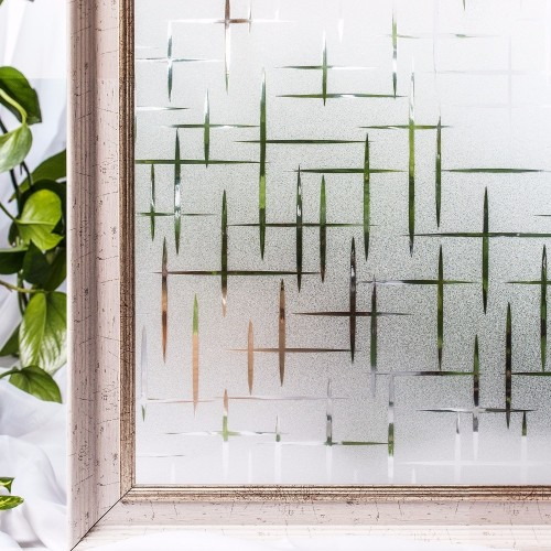 CottonColors Waterproof Window Privacy Films Frosted No Glue Static Decorative Window Stickers Size 60 x 200Cm