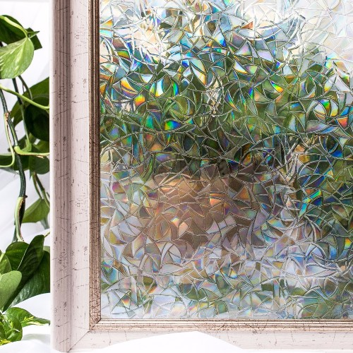 CottonColors Window Cover Film Home Decorative No Glue 3D Static Decorative Window Glass Stickers 60 x