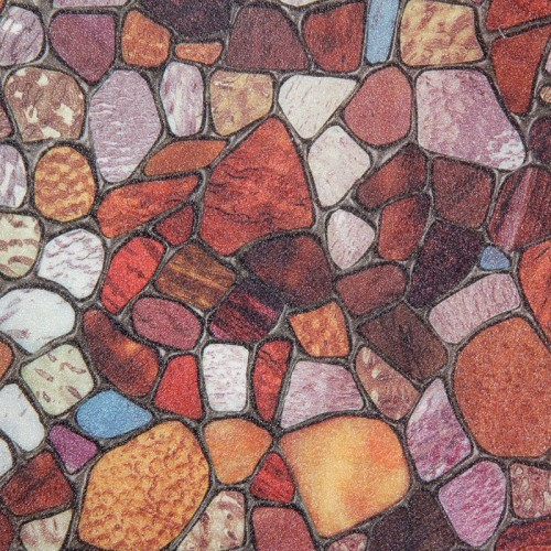 Eco PVC Cobblestone Embossed Stained Window Glass Film Privaction Decorate UV proof Static Cling for bathroom