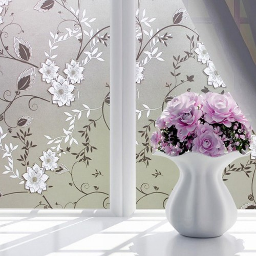 Waterproof Frosted Opaque Glass Window Film Cover Window Privacy Adhesive Glass Stickers For Bedroom Home Decorative