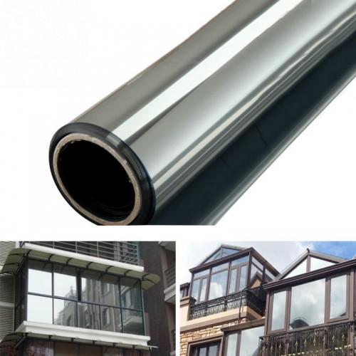 Window Glass Film One Way Mirror Silver Insulation Stickers 1m 40 50cm 2m 40 50cm Solar