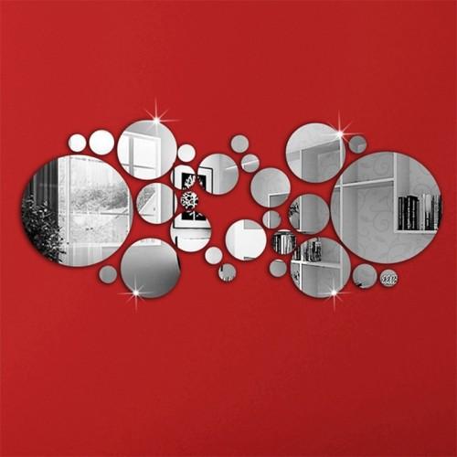 26pcs Acrylic DIY decorative mirror wall stickers environmentally friendly high quality living room bedroom decorative mirror