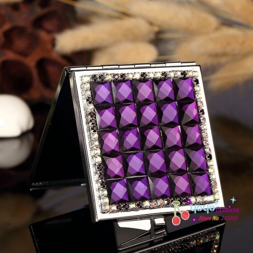 4 color bridesmaid girl friend bling crystal square rhinestone Cute make up Cosmet Beauty makeup