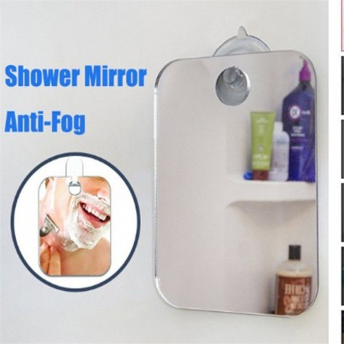 Deluxe Anti Fog Shaving Shower Mirror Fogless Washroom Bath
