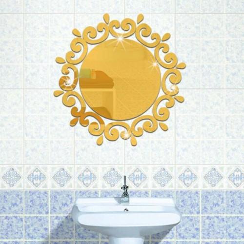 Flower Wall Mirror 18 Luxury Flower Vine Decorative Dressing Up Mirror Art Vinyl Mural Decor Decal
